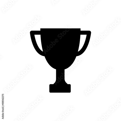 Winner trophy cup icon. Vector illustration. Wall mural