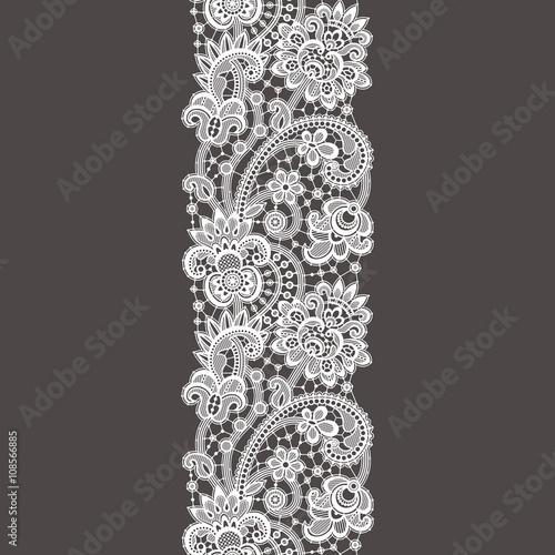 Fotomural White Lace. Seamless Pattern.
