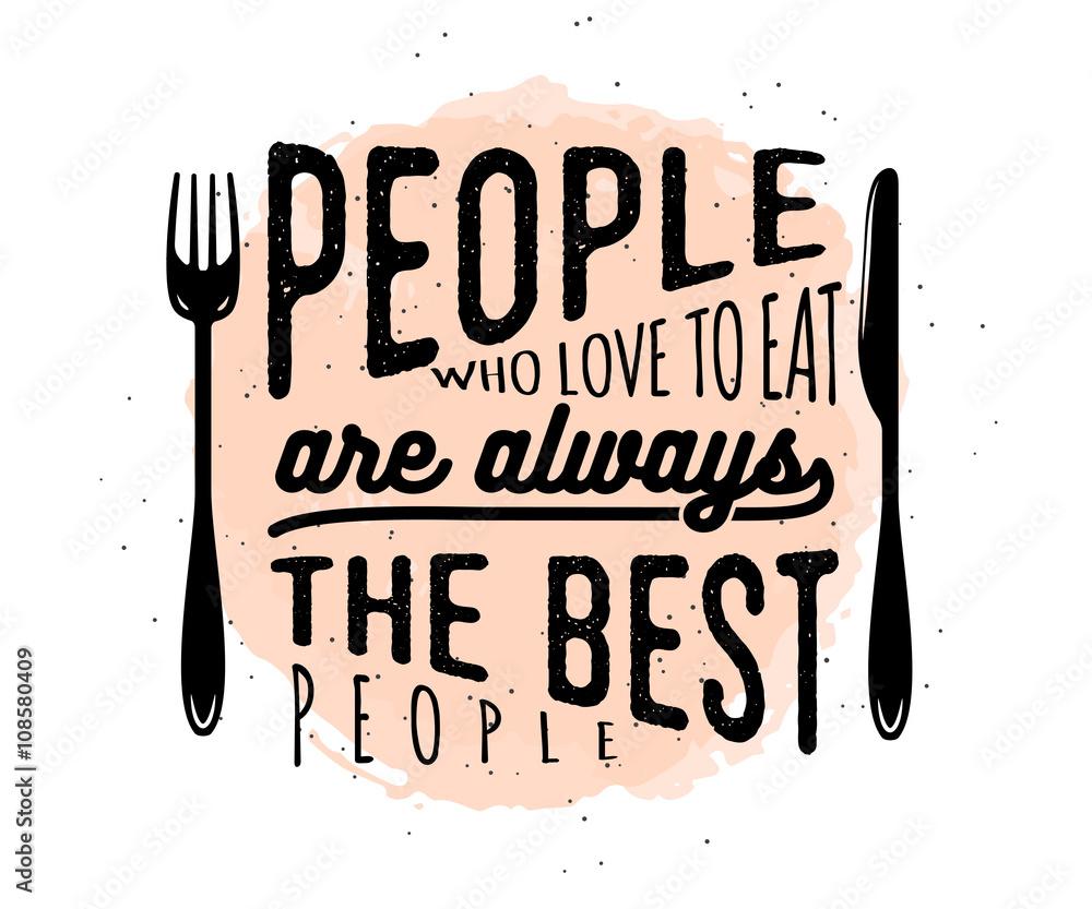 Cytat typograficzny związany z żywnością