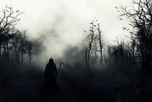 Graveyard Silhouette Halloween...