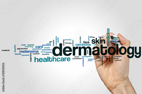 Dermatology word cloud