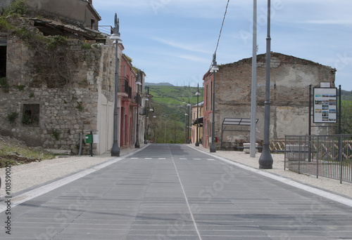 Alley of the historical Conza Campania village, Italy Canvas Print