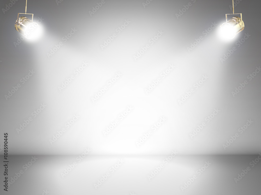 Fototapety, obrazy: blank stage with shining lights