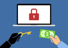 Locked Computer Ransomware Wit...