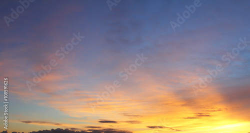 Fototapeta Natural background of the colorful sky and cloud, During the time sunrise and sunset obraz na płótnie
