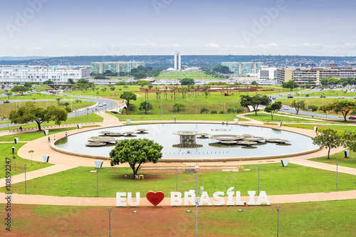 Aerial view of Brasilia, capital of Brazil.