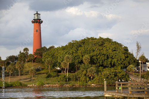 Fotografie, Obraz  Jupiter Lighthouse in Florida on a cloudy day