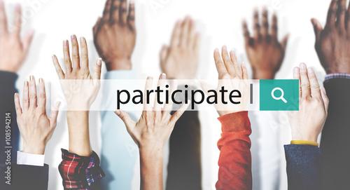 Fotografie, Obraz  Participate Collaboration Support Involved Concept