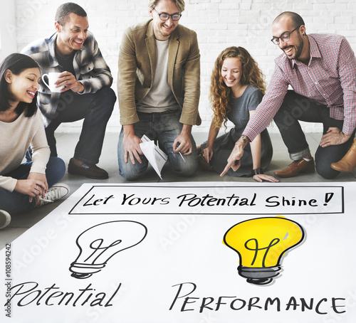 Fotografía  Potential Performance Capacity Motivation Skill Concept