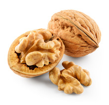 Walnut Isolated On White Backg...