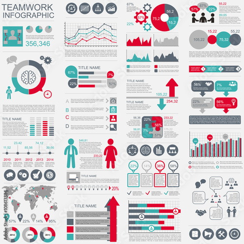 Photo  Set of infographic vector design template