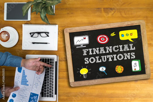 FINANCIAL SOLUTIONS Canvas Print