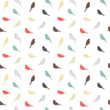 Seamless pattern with birds. Geometric style. Vector. - 108615662