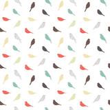 Bezszwowy wzór z ptakami. Styl geometryczny. Wektor. - 108615662