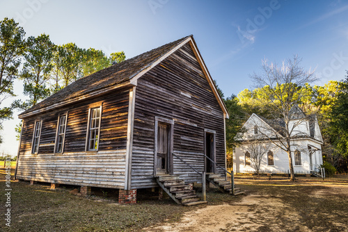 Fotografía  Old houses in a historic landmark park