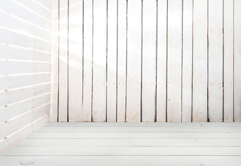 empty white wooden room