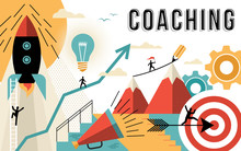 Coaching Concept Line Art Colo...