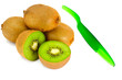 Fresh Tasty Kiwi Isolated on White Background