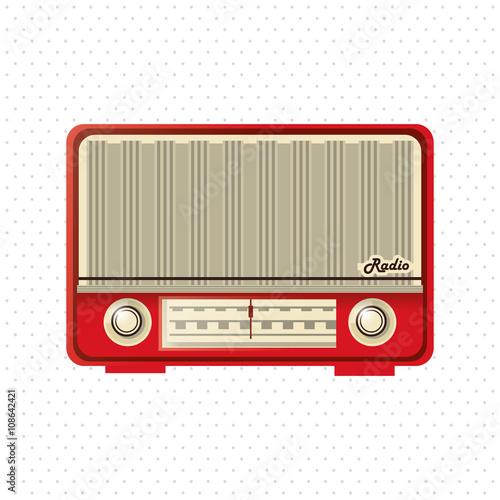 colorful retro radio design, vector illustration - Buy this stock ...