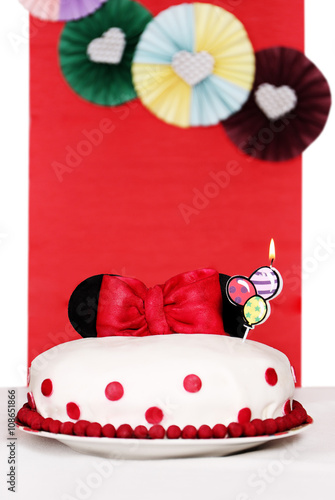 Photo  Cake with ears of Minnie Mouse