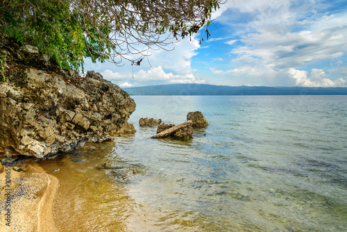 Siuri Beach at Poso lake. Indonesia