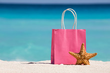 Shopping Bag And Starfish On S...