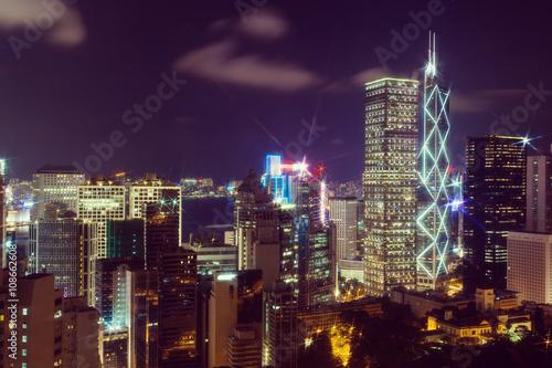 Fototapety, obrazy: Hong Kong at night