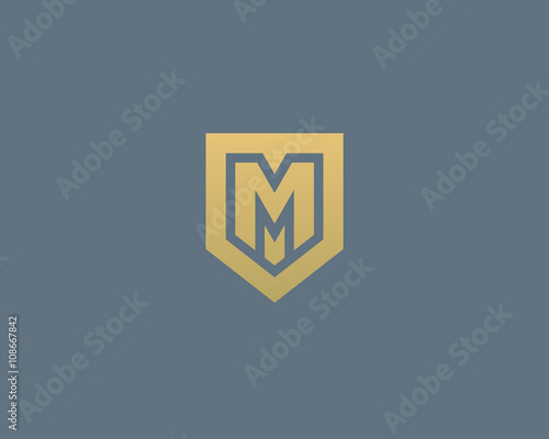 Abstract letter m shield logo design template premium nominal abstract letter m shield logo design template premium nominal monogram business sign universal foundation flashek Image collections