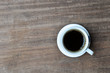 Coffe on Wood background