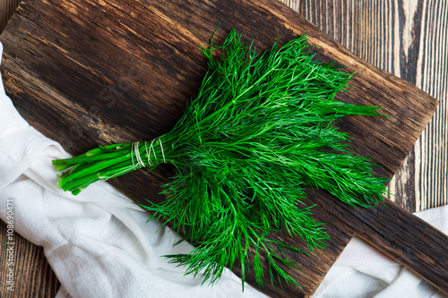 Tablou Canvas Bunch of fresh organic dill
