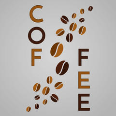Panel Szklany Kawa Abstract coffee background