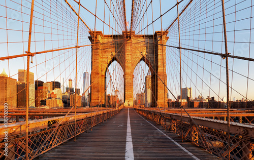 Foto op Plexiglas Brug Brooklyn Bridge, New York City, nobody