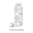Food allergens. Icons food allergens located inside the inhaler for people with asthma.