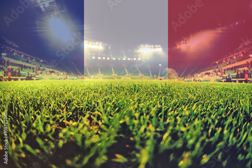 Photo euro 2016 stadium with blending France flag