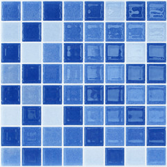 Fototapeta Blue glass mosaic tile wall