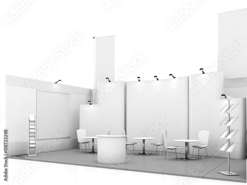 Fotografie, Obraz  Blank trade show booth mock up