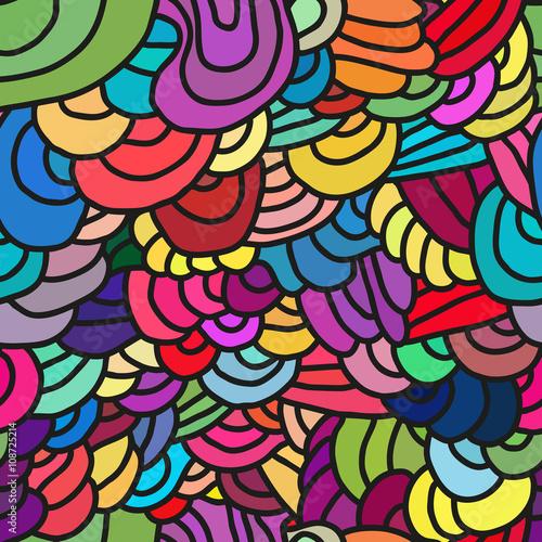 Foto auf AluDibond Klassische Abstraktion Abstract seamless patterns.