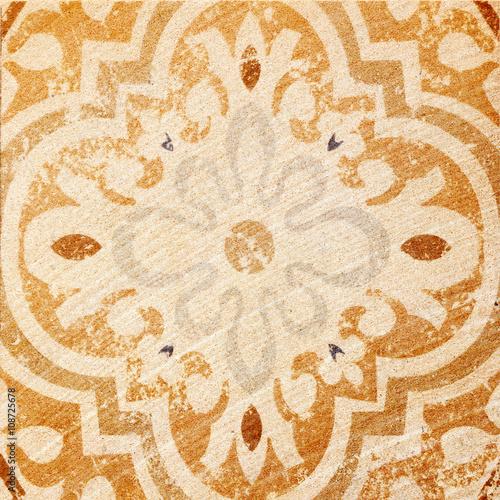Fotobehang Stof Decorative brown sand stone tile background