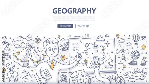 Fotografia  Geography Doodle Concept