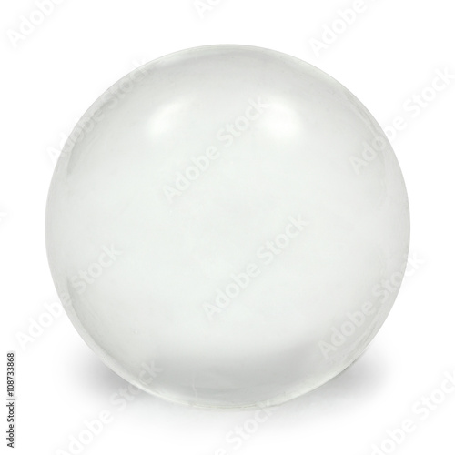 Fotomural Sphere glass ball, isolated on white background, with clipping p