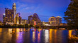 canvas print picture - Austin, Texas Downtown Skyline at Night