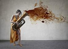 Elegant Musician Playing Music