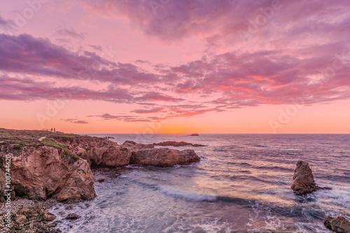 Papiers peints Cote Sunset on the California Coast