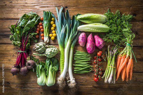 Local market fresh vegetable, garden produce Canvas-taulu