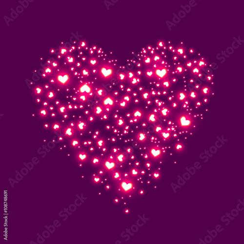 Abstract Image Of Lighting Flare Pink