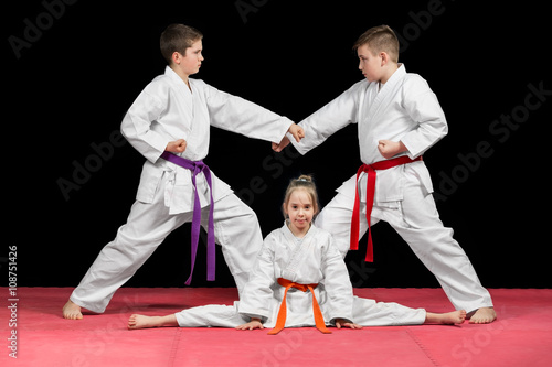 Group kids Karate martial Arts - 108751426