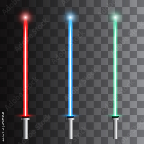 Photo  Set of light futuristic swords. Vector illustration