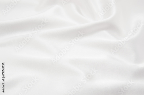 Photo sur Aluminium Tissu white satin fabric as background