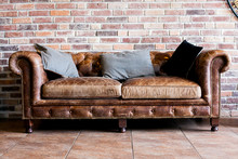 Vintage Style Of Interior Decoration The Leather Sofa