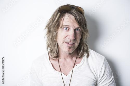 Fotografie, Obraz  Portrait of a man in studio